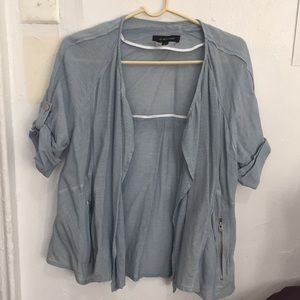 Petite Pastel sky blue summer jacket